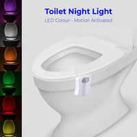 Toilet Night Light - LED 8 Colour - Motion activated x 2