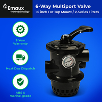 PIKES -  6 Way Top Mount Multi Port Replacement Valve for Sand Filter, Aust Std.