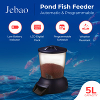 Jebao Automatic Programmable Pond Fish Feeder, perfect for KOI, 5 Litre capacity