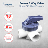 Emaux 3-Way Valve High Pressure 40mm / 50mm