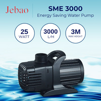 Jebao SME 3000 L/Hour Amphibious Water Feature Pond Pump ONLY 25W Energy Saver