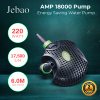 Jebao AMP 18000 L/Hour Amphibious Water Feature Pond Pump ONLY 220W Energy Saver