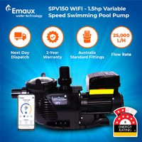 Emaux SPV150WR with WIFI - Variable 3 Speed 1.5hp Swimming Pool Spa Pump - 8 Star Energy Rating