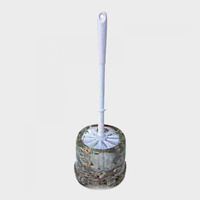 Sand and Shell Clear Toilet Brush and Holder