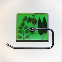 Green Tree Frog Toilet Roll Holder