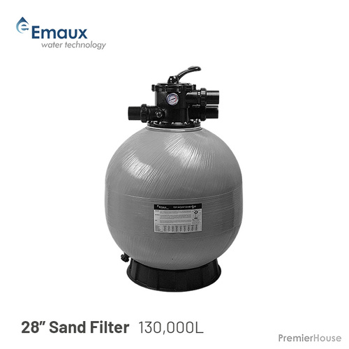 "Pool 28"" Sand Filter - Pool, Spa, Pump, to 130,000L, 6 Way Valve, Aust Std"