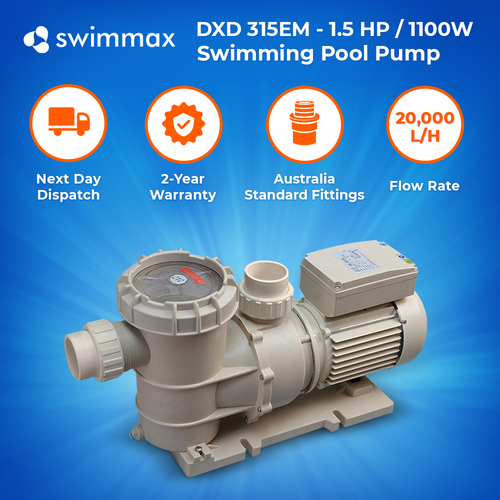DXD 315EM,1.5hp/1.1kw Swimming Pool Spa Pump, 2 year Warranty, Leading Brand OEM