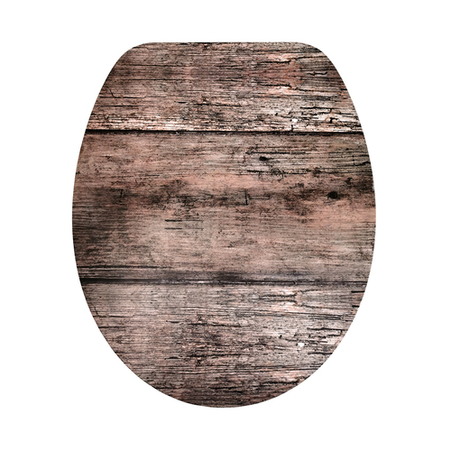 Wooden Palings Soft Close Toilet Seat
