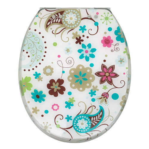 Groovy Flowers Soft Close Toilet Seat